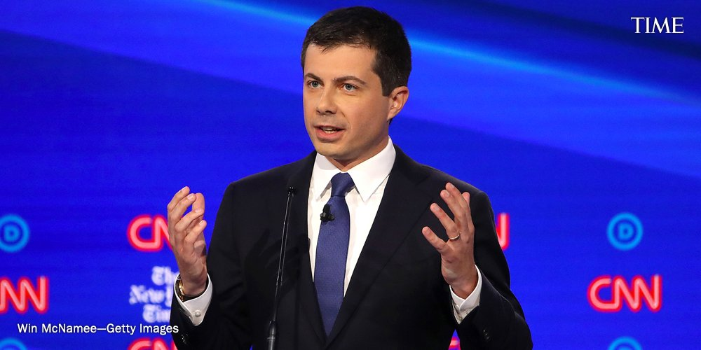 """""""We can't go on like this, where every single time there is a vacancy, we have this apocalyptic ideological fire fight over what to do next,"""" Mayor Pete Buttigieg says at the #DemDebate about expanding the Supreme Court https://ti.me/2pmHiJq"""