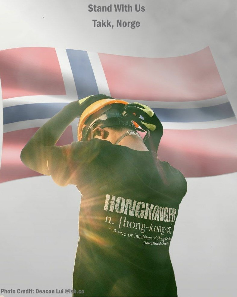 @gurimelby Thank you for the support from Norway! It is our pleasure to have your nomination. We will keep fighting for freedom and justice. Please continue to #StandWithHongKong. https://t.co/Ch2WHNNviO
