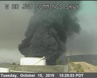 Óriási robbanás és tűz egy amerikai energetikai üzemben