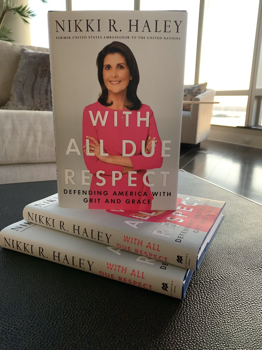 And they have arrived.The time, energy, and emotion that went into this book was intense. It's honest, direct, and emotional. I am grateful for the opportunity to share my story. Reserve your copy and come see us on the book tour! Visit  http://www. nikkihaleybook.com      #WithAllDueRespect<br>http://pic.twitter.com/nwJdWQp9Kh
