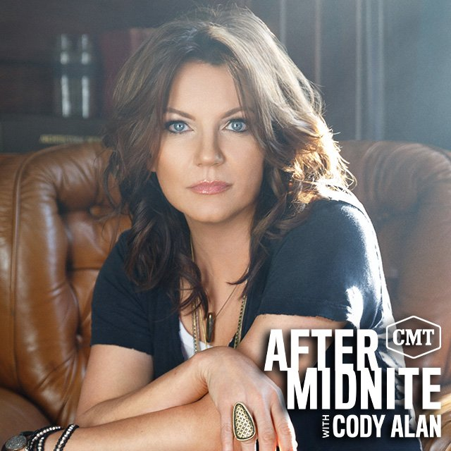Tonight its @martinamcbride @aftermidnite. See what we did there? Youre welcome. 😜 Join in and listen as this country queen joins @CodyAlan on @aftermidnite radio. Find your station at cmtcody.com and tune in 12m-5a.
