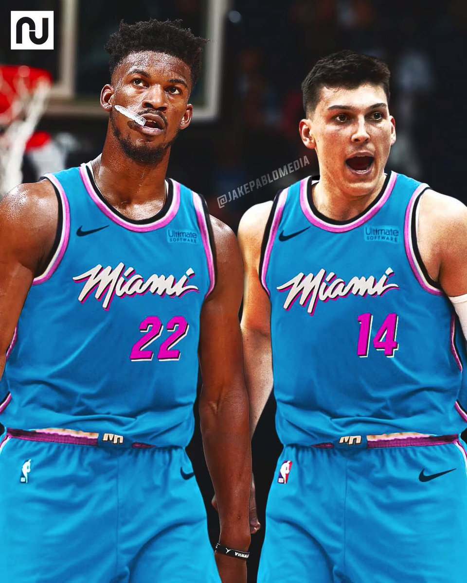 Jake Pablo On Twitter Updated Look At The Blue Vice Jersey From The Miamiheat