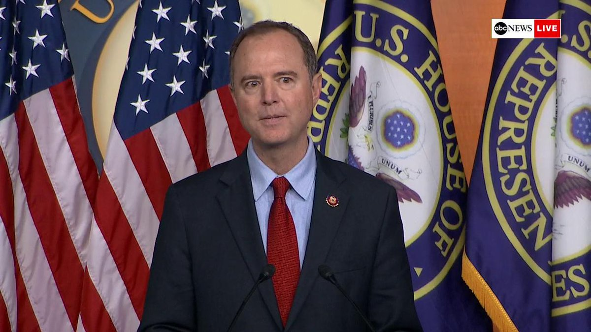 Rep. Adam Schiff says Congress has to investigate Trumps conduct related to Ukraine since there is no special counsel investigation and thats because the fundamental attitude of Attorney General Bill Barr is the president is above the law abcn.ws/2VuGazl