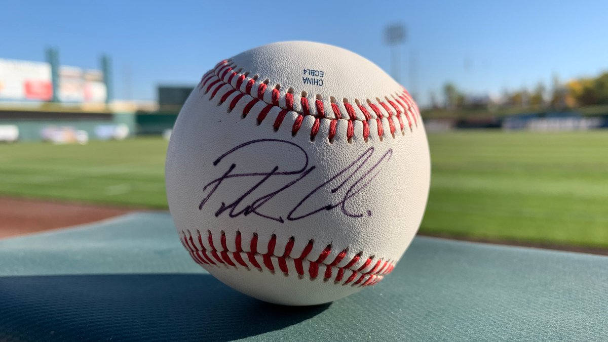 Patrick Corbin NLCS Game 4 Giveaway    In honor of former Ace Patrick Corbin getting the start in TONIGHT'S NLCS Game 4 for the @Nationals. We are giving away a ball signed by him.   Just RT + Follow us for a chance to win.  #Aceball | #AllInForAceball<br>http://pic.twitter.com/1yxf3oThLz