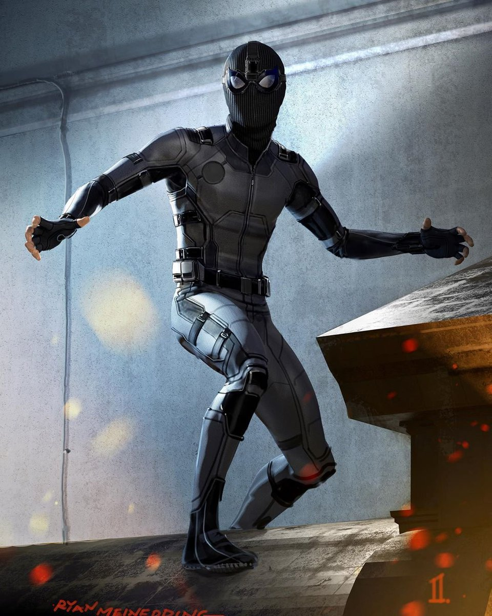 'Far From Home' concept artist shares early drafts of Spidey's Stealth Suit and Mysterio looking really different  (via @MeinerdingArt)<br>http://pic.twitter.com/bxaqQw7IwD
