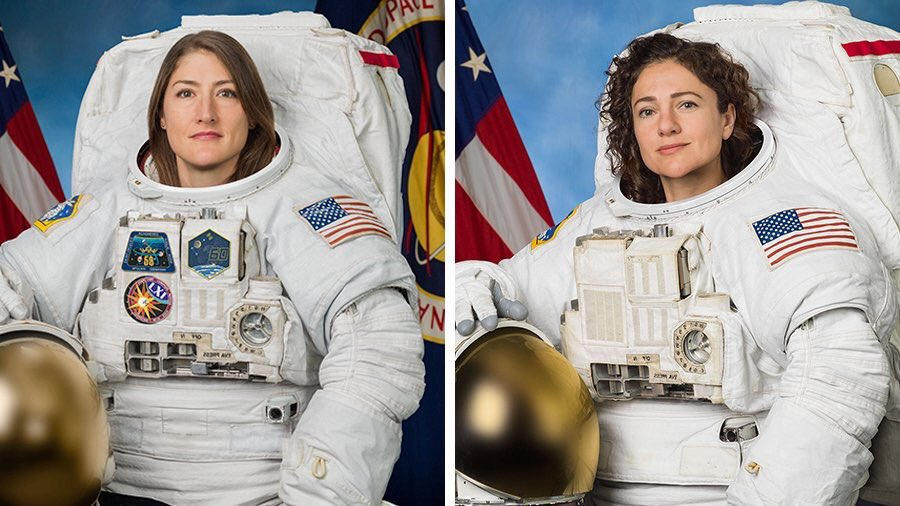 UPDATE: First all-female spacewalk with @Astro_Christina and @Astro_Jessica now no earlier than Friday, October 18 to replace a faulty battery charge-discharge unit.
