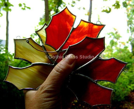 Excited to share the latest addition to my #etsy shop: #MapleLeaf #Canadian #StainedGlass #Ornament #Expats #Autumn #Fall #Souvenir #Christmas #Canada #Harvest  https://etsy.me/2VJ6GoI