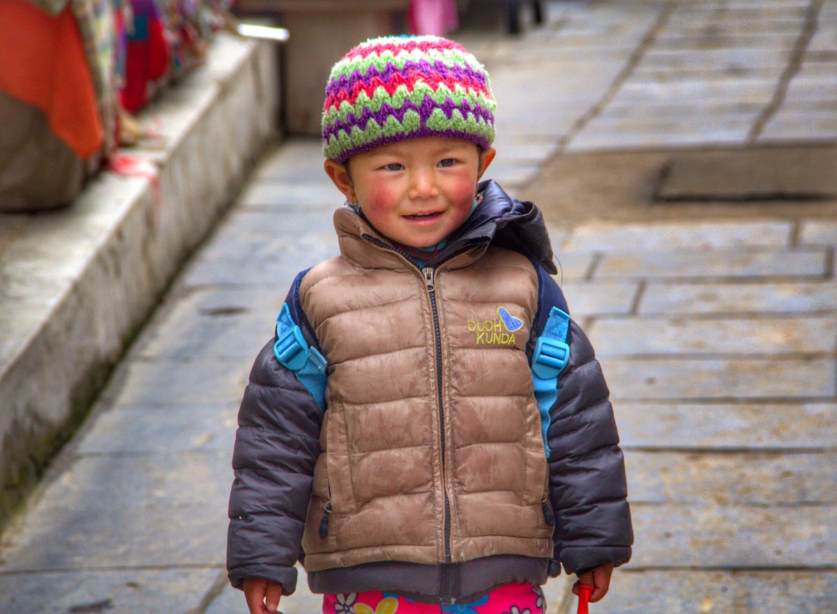 """""""Childhood means simplicity. Look at the world with the child's eye - it is very beautiful."""" ~Kailash Satyarthi @CanonCanada #travelphotography #canonphotography #streetphotography #namchebazar #himalayas #nepal #trekkinginnepal"""