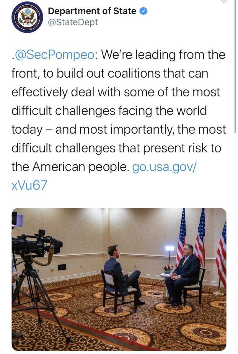 We just abandoned the global coalition to defeat ISIS and let the Kurds be slaughtered and let Russia Iran and Assad take over Syria. <br>http://pic.twitter.com/nv87HcvEag