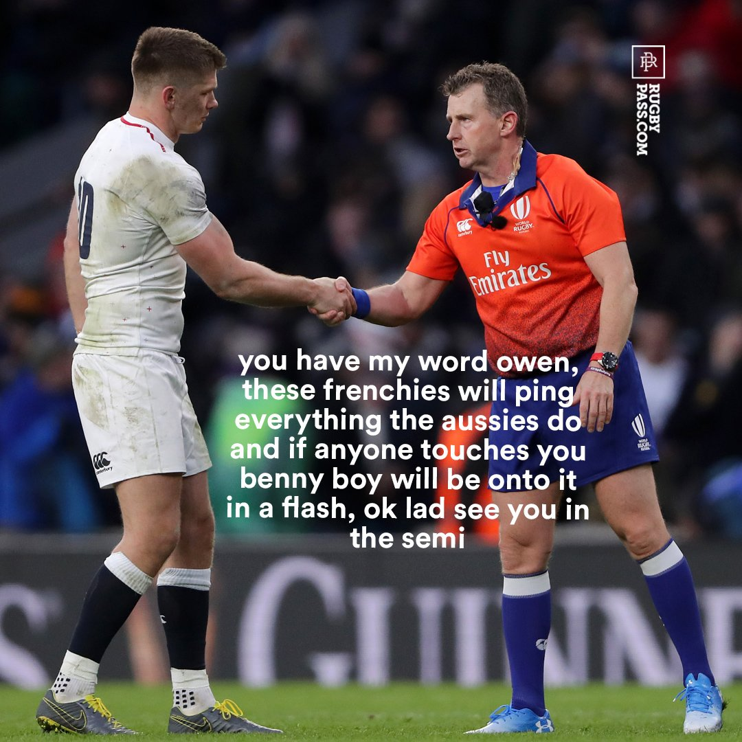 RT @RugbyPass: Ok lad see you in the semi #ENGvAUS #RWC2019 https://t.co/vcTaHzIiG2