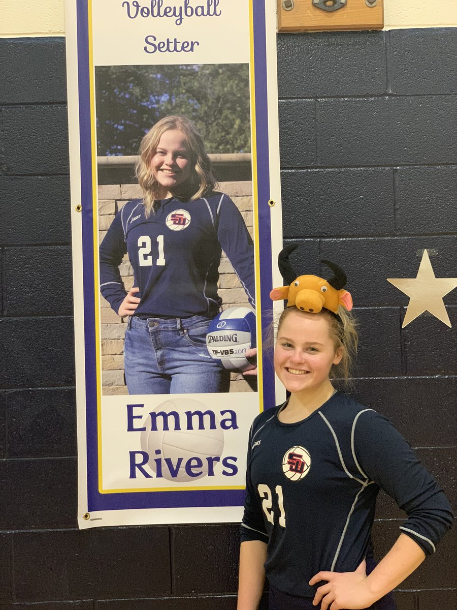 Our #bullofthegame is Emma Rivers! She ran the offense and had 8 digs and 22 assists in our 3-1 win over Centereach on senior night! @SCSD_HSW #gobulls <br>http://pic.twitter.com/lJkgIFQ1F8
