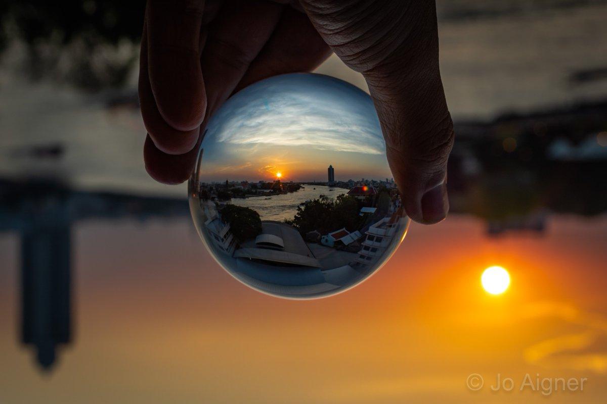 #PicOfTheDay Chao Phraya River through a Lensball. #thattravelblog #TravelStoke #lonelyplanet #BBCTravel #travel #travelphotography #onestrangeasia #lppathfinders #canon #canonphotography #LiveTravelChannel #travelphoto #lpfanphoto #Thailand #Bangkok #amazingthailand #lensball