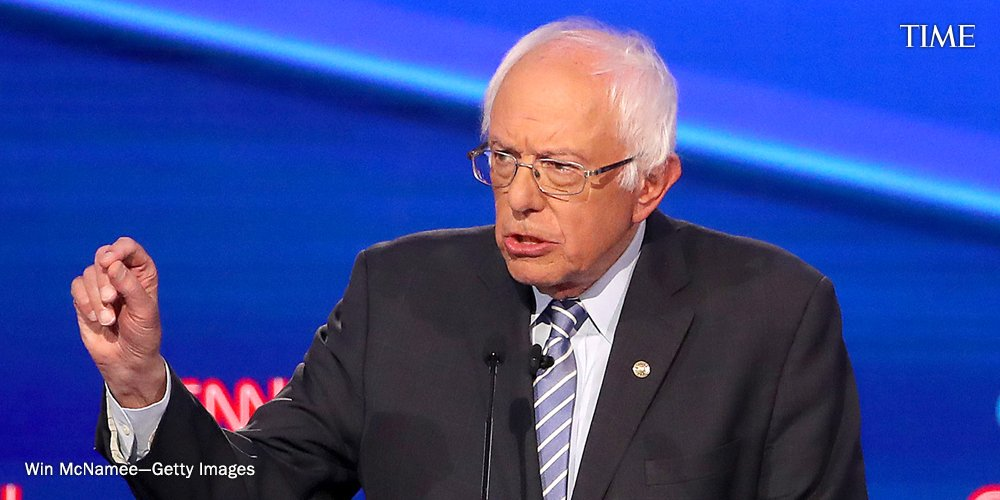 """""""I'm getting a little bit tired, I must say, of people defending a system which is dysfunctional, which is cruel,"""" says Sen. Bernie Sanders. """"The issue is whether the Democratic party has the guts to stand up to the health care industry"""" #DemDebate https://ti.me/2MjCgGp"""
