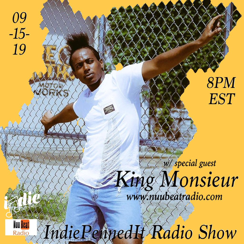 """Live Interview tonight with @indiepennedit radio show tonight!!! Click the link in their Bio!!! They're gonna be  streaming """"Sriracha"""" tonight!! Calling in at 9pm!!    http://www. nuubeatradio.com      #Rap #Rapper #sriracha #kingmonsieur #indiepenneditradio #indiepenneditradioshow <br>http://pic.twitter.com/ZgVVlbKeQ2"""