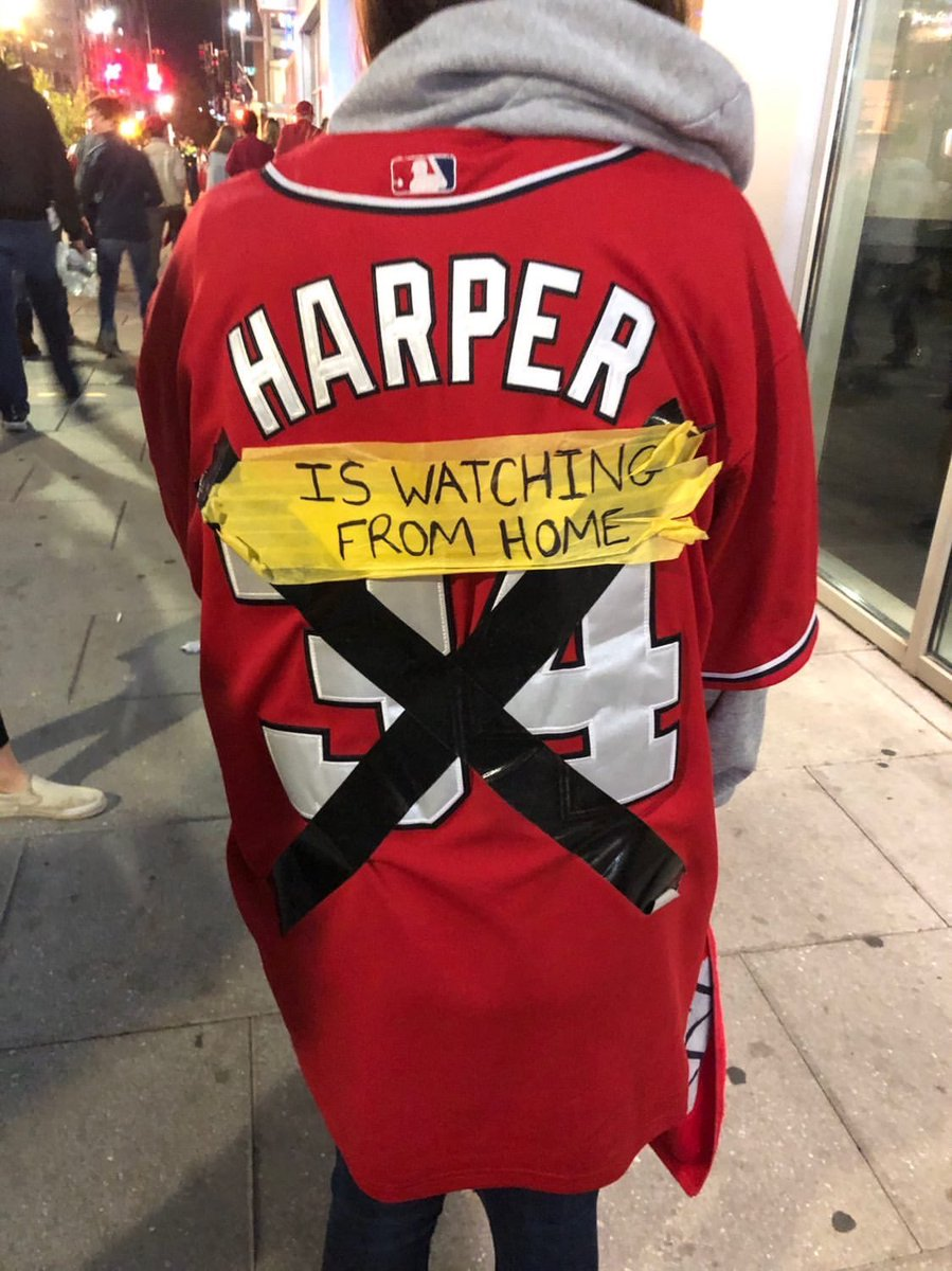 Nothing more bipartisan in DC than chirping Bryce Harper as the Nats look to play in the World Series. (Via IG/mrandall4)