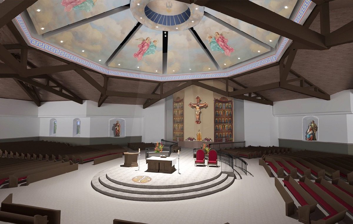 For a Vatican II church, that's actually pretty conservative…