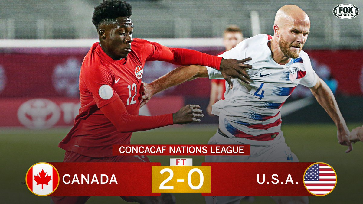 Unreal.   The USMNT loses to Canada for the first time since 1985(!!) and fall 6 points behind their neighbors in Nations League Group A  <br>http://pic.twitter.com/glim7FVPHs
