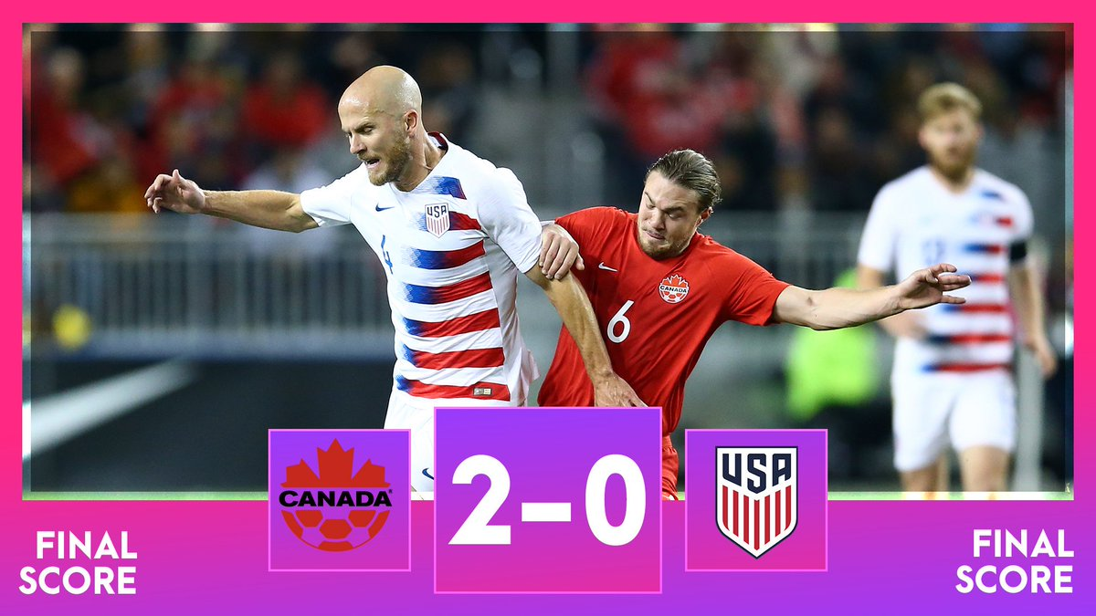 Canada has beaten the United States Men's National team for the first time in 34 years. <br>http://pic.twitter.com/FtjUmkcktS