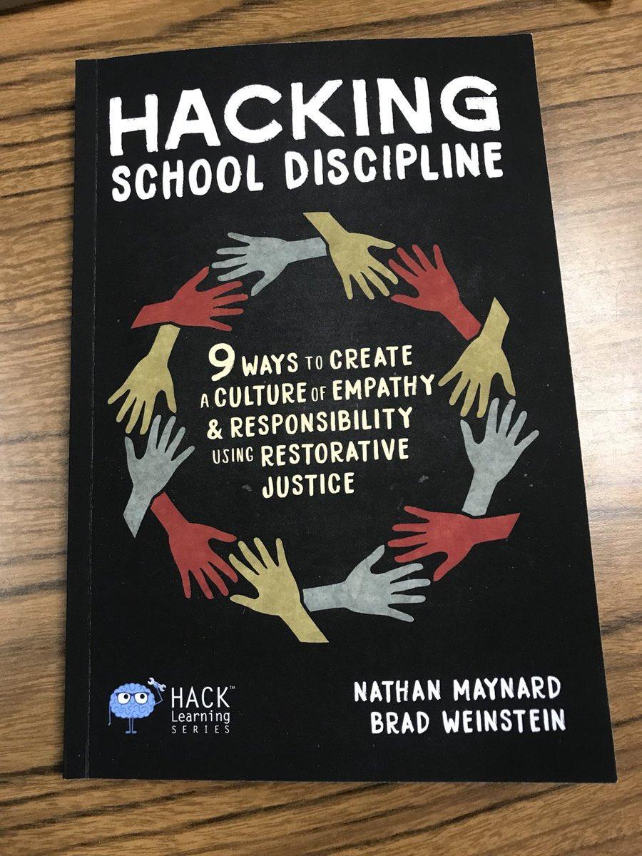 Looking forward to our staff book study this quarter! @WeinsteinEdu #HackingSchoolDiscipline