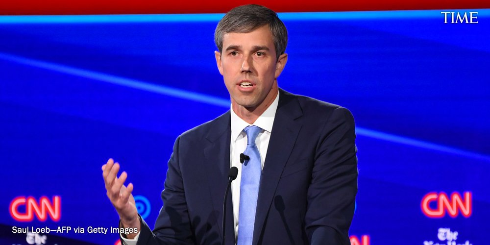 """""""The expectation is that Americans will follow the law. I believe in this country. I believe in my fellow Americans. I believe that they will do the right thing,"""" Beto O'Rourke said about how he would enforce mandatory buybacks of AR-15s and AK-47s https://ti.me/2VUwwGB"""