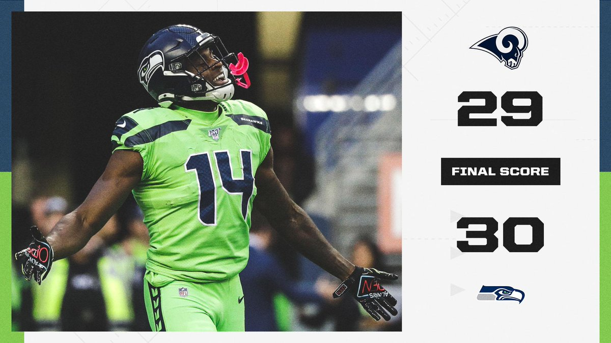 Espn On Twitter The Seahawks Secure A Big Division Win Over The Rams To Move To 4 1