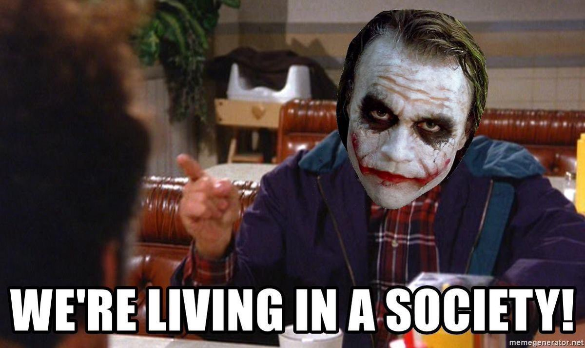 Heath Ledger Joker - We´re live in a Society