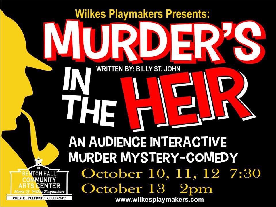 Murder's in the Heir opens next week!