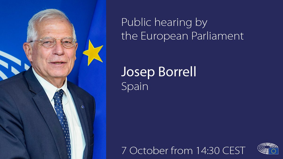 Hearing of Josep Borrell🇪🇸, High Representative for Foreign policy and Security Policy/Vice-president-designate of the European Commission, Monday, 14.30-17.30 with @EP_ForeignAff MEPs learn more bit.ly/2Vh1cBh Follow LIVE bit.ly/2AGaOft #EPhearings2019