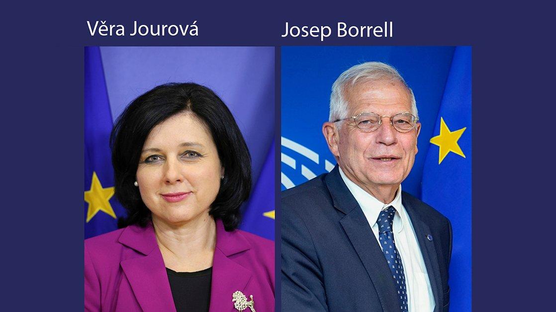 Audiencias en el Parlamento Europeo del lunes 7 de octubre con dos vicepresidentes designados: 🇪🇸 Josep Borrell → Alto Representante 🇨🇿 Věra Jourová → Valores y Transparencia Más información 👉 eptwitter.eu/Audiencias5