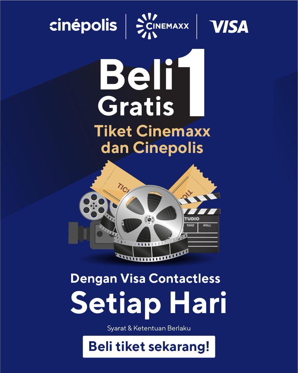 Cinepolis Indonesia On Twitter Nikmati Promo Beli 1 Gratis 1 Setiap Hari Di Cinemaxx Gunakan Kartu Kredit Atau Debit Visa Contactless Yang Memiliki Logo Wifi Pada Saat Pembelian Tiket Di Kasir Cinemaxx
