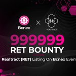 Image for the Tweet beginning: #Bcnex #Bcnx #Realtract #Ret #Bounty