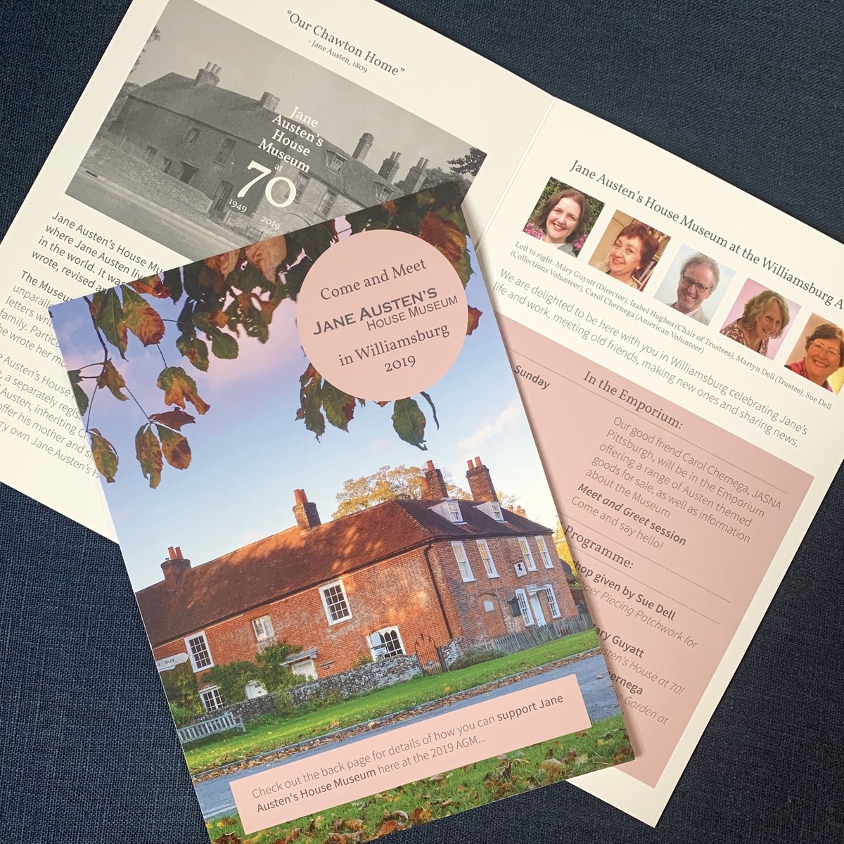 Happy #JASNAAGM2019 to all attendees! Were delighted to be here with you in Williamsburg this year. Look out for your guide to Jane Austens House Museum at the AGM, included in your delegate packs. Come and say hi! 👋 🎩