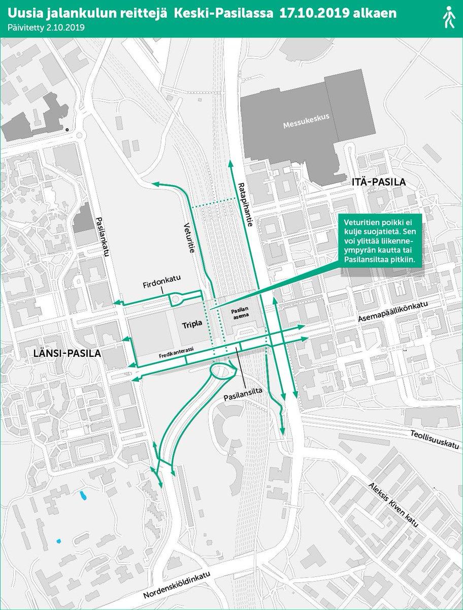 Kaupunkiymparisto On Twitter Kartta 2 Jalankulun Reitit Fi