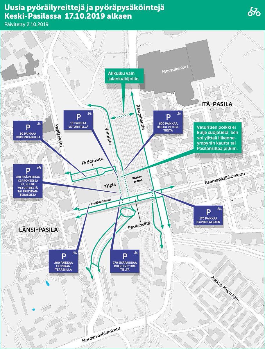 Kaupunkiymparisto On Twitter Kartta 3 Pyorailyn Reitit Fi