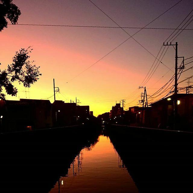 夕暮れの呑川 日が暮れていく。。。 これからお酒の時間だ。 #夕日 #夕焼け #夕暮れ #夕焼け空 #sunesets #sunset #sunsetlovers #sunrise_sunset_aroundworld #呑川 https://t.co/S7Uyl0Tvug