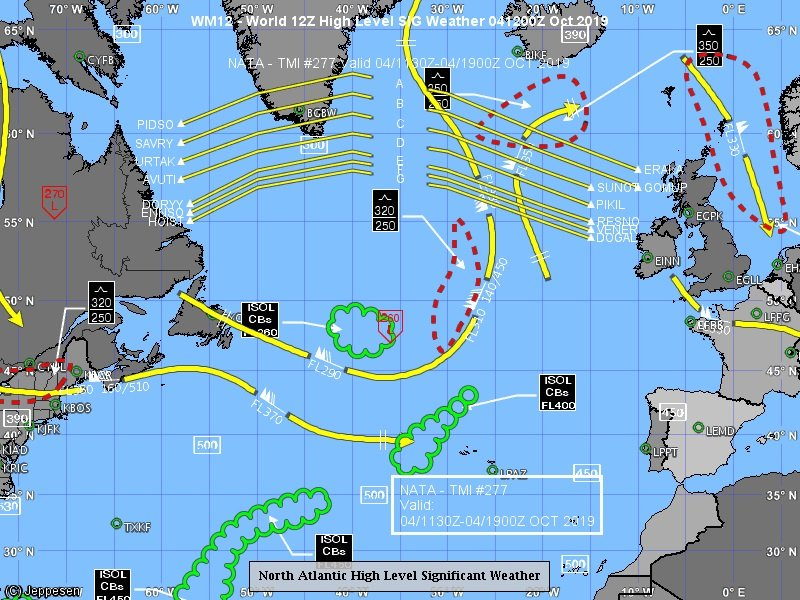 Today's flight tracks skip most of the #turbulence over the North Atlantic.