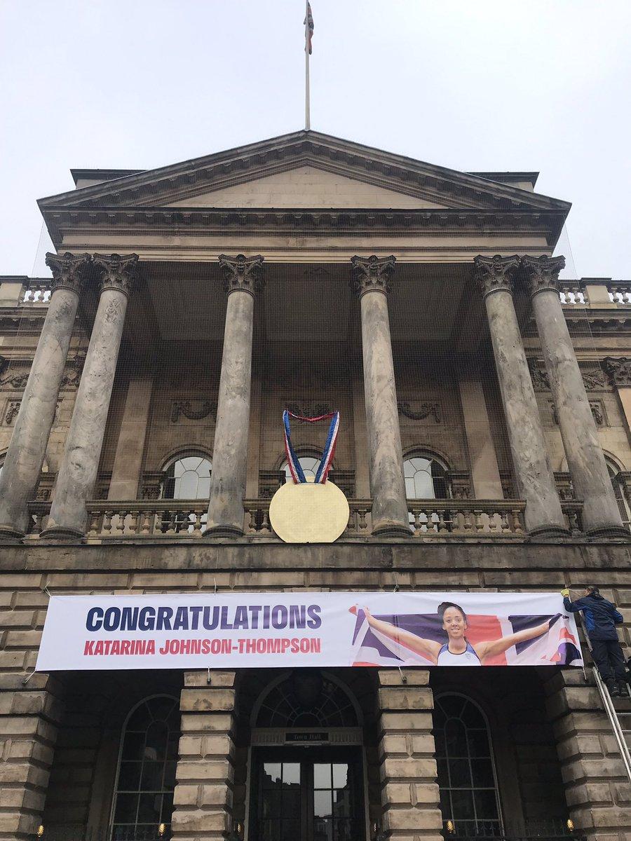 #Liverpool salutes you @JohnsonThompson - World Heptathlon Champion (New UK record holder & 1st World Atheltics Champion from NW England) #WorldAthleticsChampionships #KJT #GoldMedal