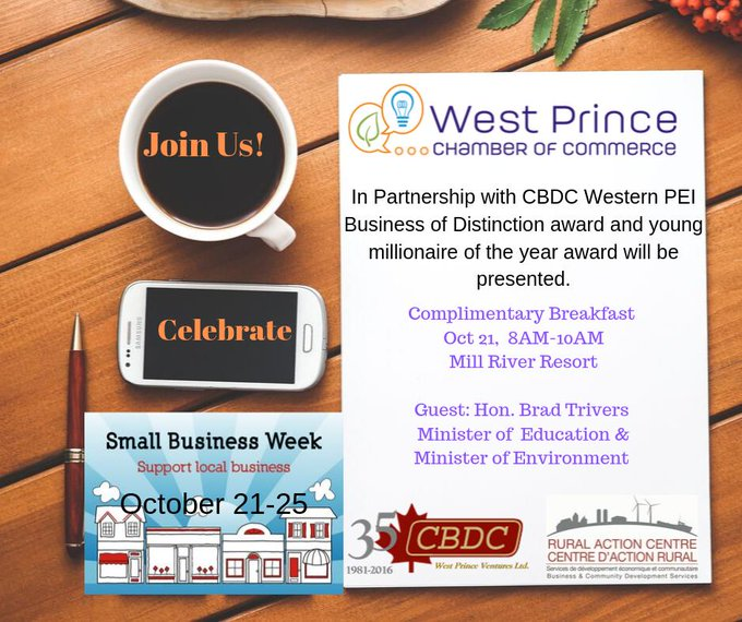 Small Business Week Event 2019 - West Prince @ Mill River Resort