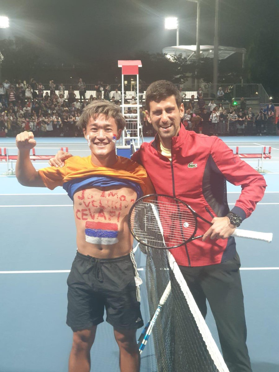 Novak Djokovic On Twitter This Guy Made My Day His Father Allowed Him To Live In Serbia Because He Was Inspired Watching Me In 2011 Season He Spent 4 Years In Serbia
