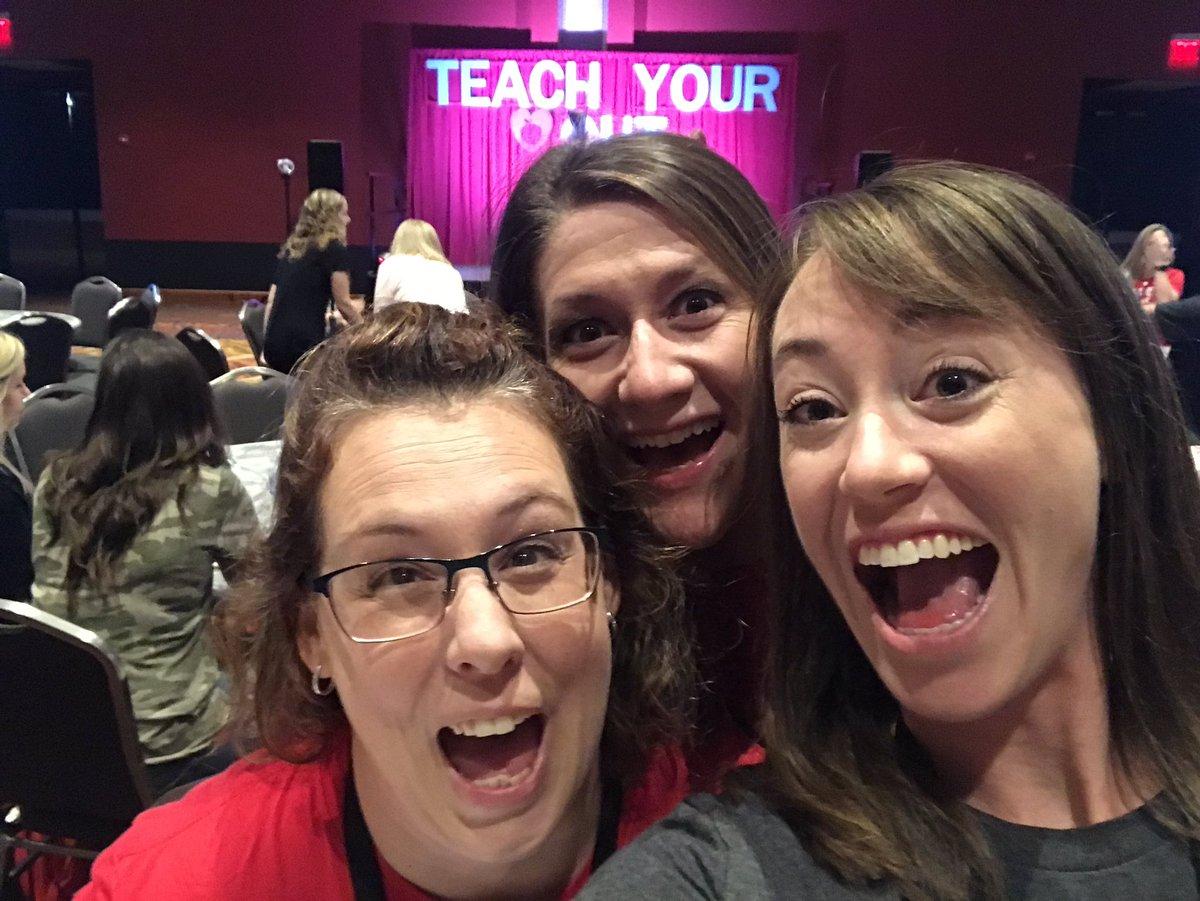 Ready to #teachyourheartoutcon with these ladies!!! #csisd #OURwhy @jenkscsis @JimmyRoss3208