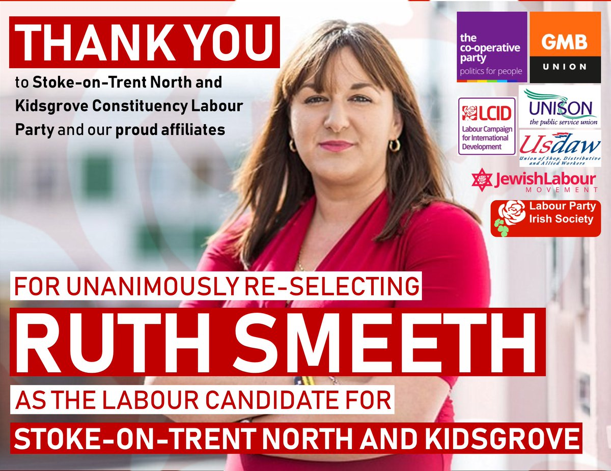 A huge thank you to Stoke-on-Trent North and Kidsgrove Constituency Labour Party and our proud affiliates for unanimously re-selecting me to be the @UKLabour candidate for Stoke-on-Trent North and Kidsgrove! 🌹