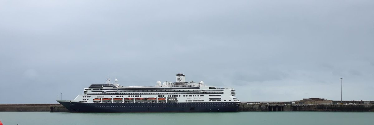 On this slightly grey Friday we are pleased to welcome @HALcruises and the lovely #Rotterdam in at the @Port_of_Dover