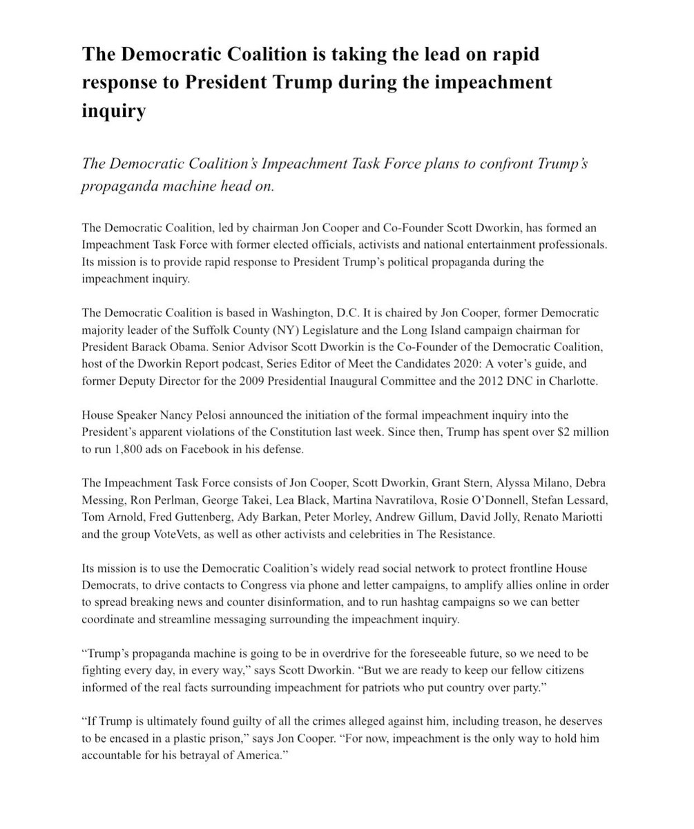 New 'Impeachment Task Force' Draws Anti-Trump Celebs Alyssa Milano, Debra Messing, And Rosie O'Donnell