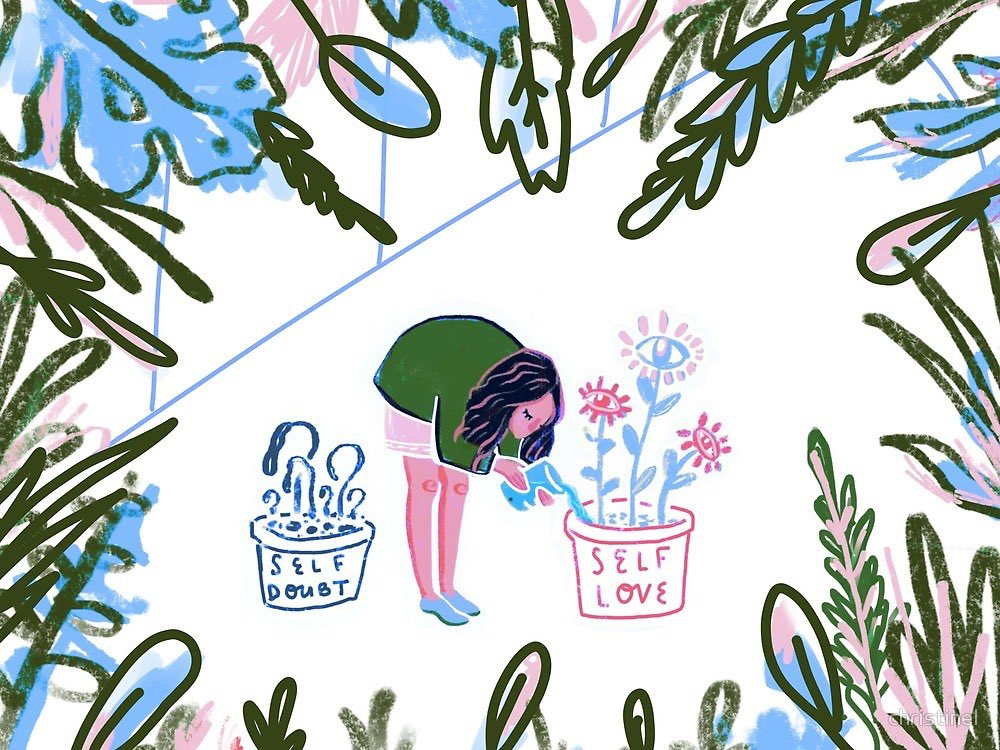 I hope you give yourself all the space and gentleness you need. — Jacqueline Whitney (Illustration by christinel)