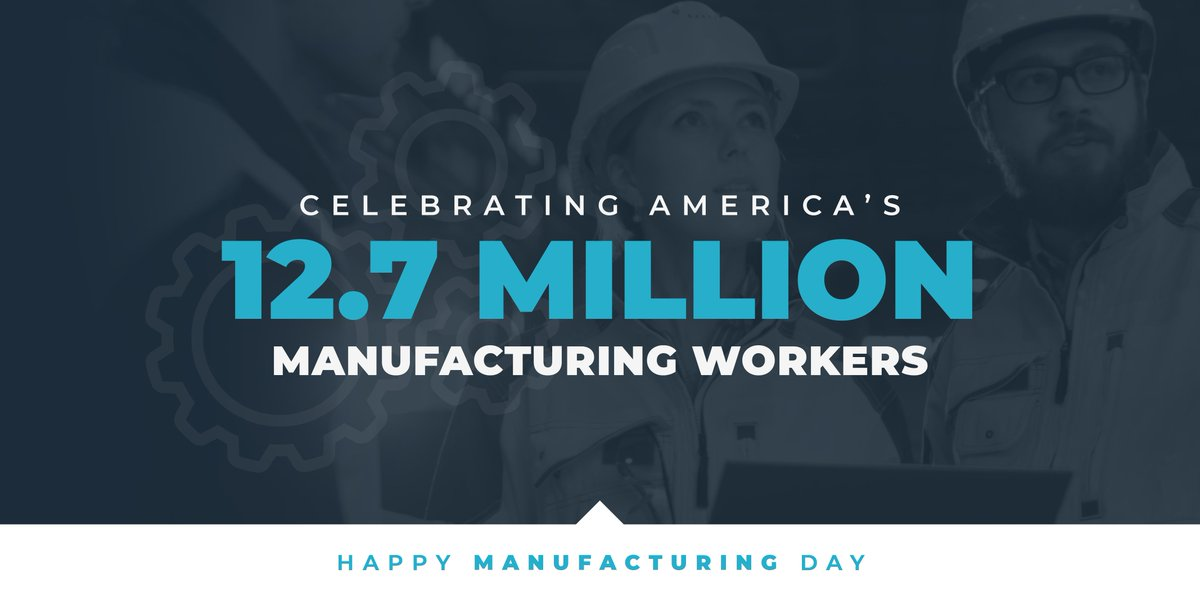 Manufactures are proud to call the Volunteer State home, with over 350,000 Tennesseans working in the industry. Canada & Mexico purchase over 2/5 of Tennessee's total global manufacturing exports, which is why passing the USMCA is so important. #ManufacturingDay #USMCAnow