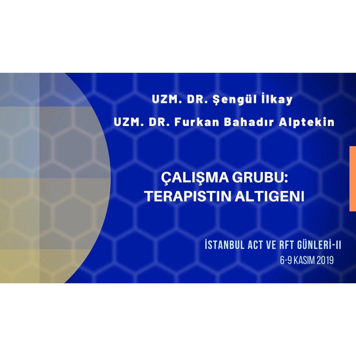 """Uzm.Dr. Şengül İlkay ve Uzm. Dr. Furkan Bahadır Alptekin """"Terapistin Altıgeni"""" çalışma grubuyla ACT ve RFT Günleri-II' de ! Hepinizi bekliyoruz 🌟 Ayrıntılı bilgi için: http://www.actgunleri2019.org #act #rft #istanbul #kabulvekararlılıkterapisi  #acceptanceandcommitmenttherapy"""