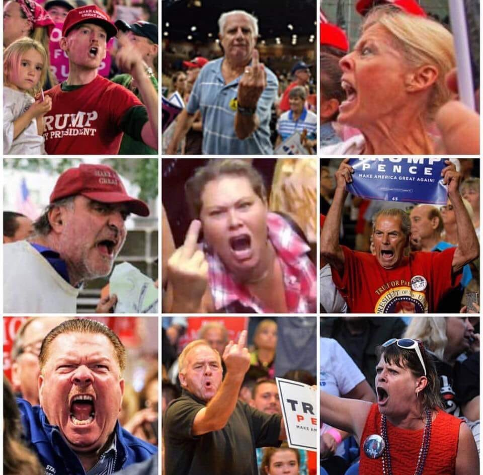 """Remember long ago, in a simpler time, when """"deplorables"""" was enough to generally describe Trump supporters? Now I tend to go with racist, ill-educated, sibling-marrying, treason-enabling, fake-patriot sacks of human excrement. #MAGAts"""