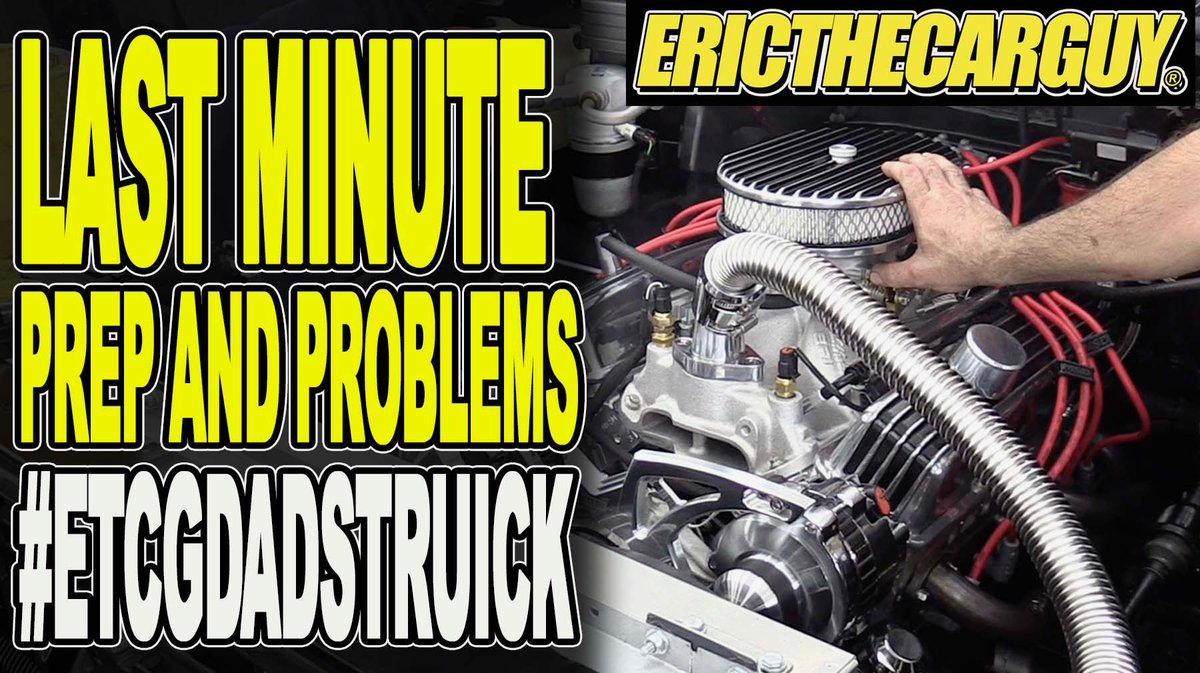 I don't think there has ever been a build without problems. #etcgdadstruck is no exception. Stress, no sleep, and an impending deadline help contribute, but it's how you handle it.  #etcgvideo #chevytrucks #dt383 #383stroker #deadline #nosleep  https:// youtu.be/u0mBrFVET5Q     <br>http://pic.twitter.com/far1bsUtys
