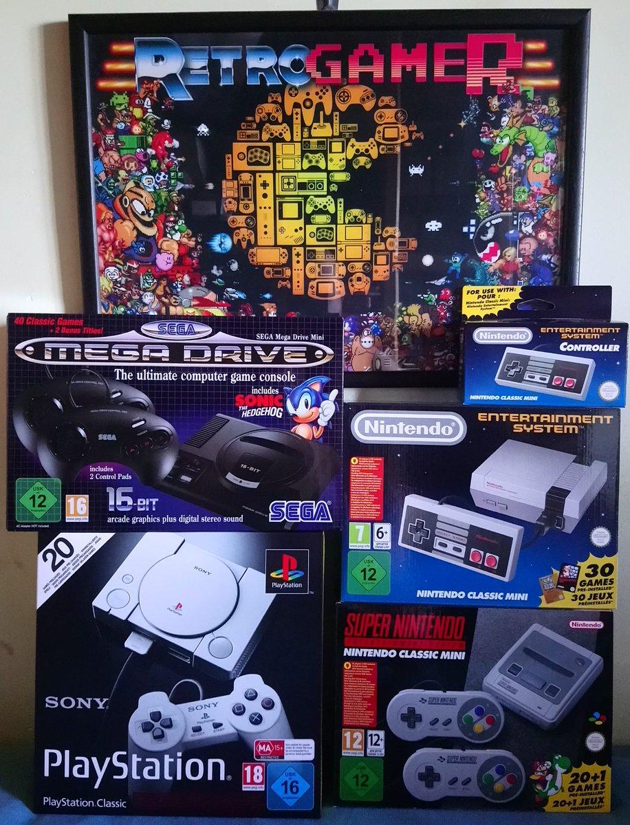 ¿Por qué me gustarán tanto las miniconsolas? #NESclassicMini #SNESclassicMini #PlayStationClassic #MegaDriveMini  #SEGA #SONY #Nintendo #SegaMegaDriveMini #SegaGenesisMinipic.twitter.com/YVIyKs81p3