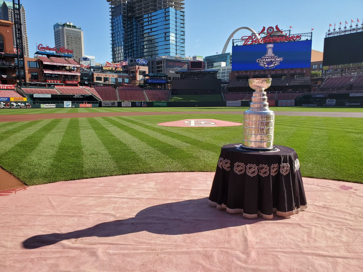Best of luck! Go @Cardinals Go, from @keeperofthecup and the #stanleycup @StLouisBlues @NHL